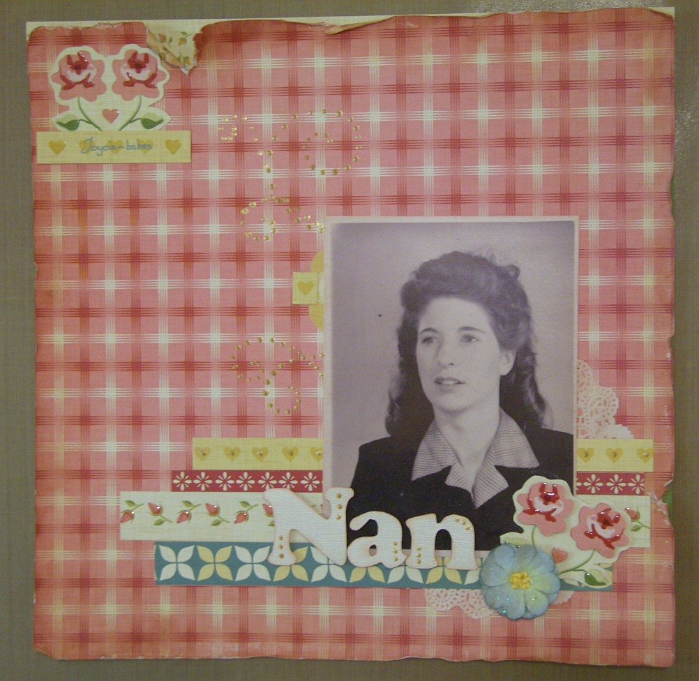 Scrapbook layout - Nana
