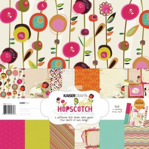 Hopscotch paper pack by Kaisercraft