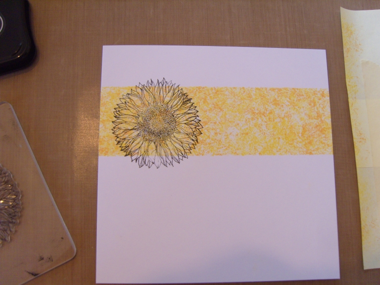 Stamp sunflower image