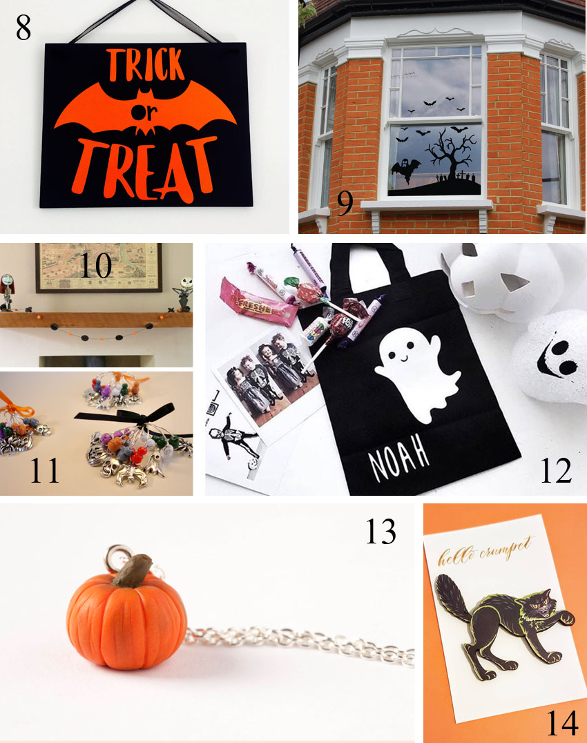 28 Be-Witching Halloween Finds. A roundup of some of the amazing items available on Etsy created by UK artists and designers. www.gorgeouscrafts.co.uk