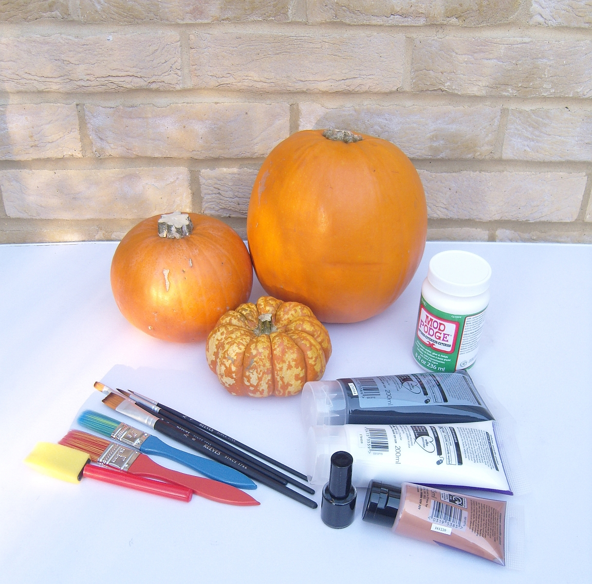 What you'll need for your painted pumpkins