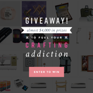 Prize Giveaway to fuel your crafting addiction